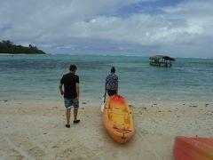 25周年記念 クック諸島 Day2-4(ムリビーチでカヤック遊び)