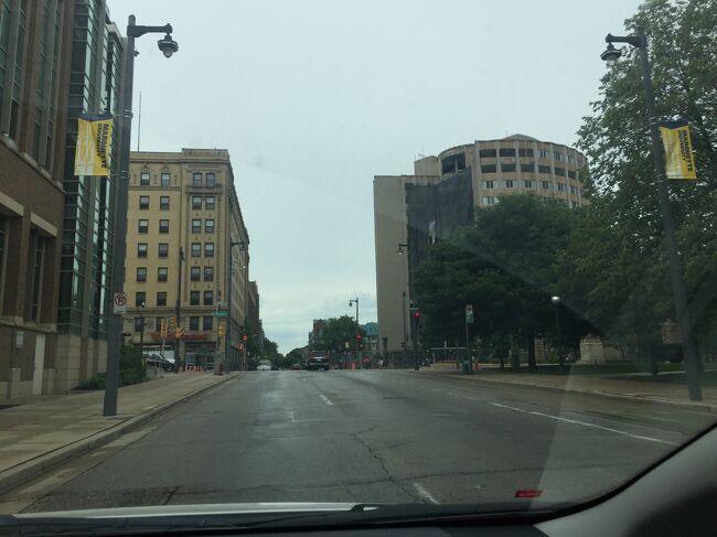ウィスコンシン州 ミルウォーキー - ホテルまでドライブ