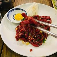 有給消化のお達しで急遽22回目の訪韓は、初冬のプサンへ!~(1)久々に、「ユッケ」食べました!