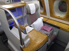 バンコク2泊4日+トランジット@香港-2019/冬。AccorGoldステータス旅最終回。②エミレーツ/ビジネスクラス搭乗記。