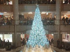 横浜みなとみらいのXmasツリーに雪が降る!!