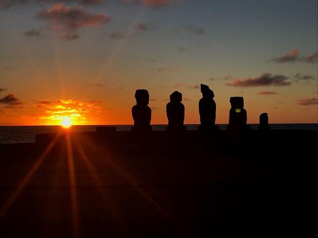 イースター島の夕日がすごい