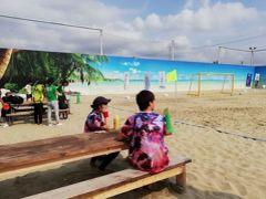"""ニッポンの中の外国めぐり1908 「日本一のフェイクビーチ!? タヒチならぬ""""タチヒビーチ""""でビーチサッカーを見る。」 ~立川・東京~"""
