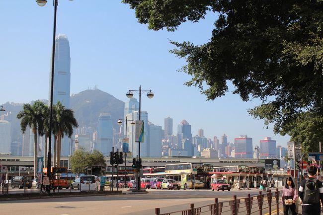 2019年12月12日から2泊で香港へ広東オペラを観に行ってきました。<br />デモの影響で一時は行けないかもと不安になったのですが、<br />無事に行ってきました。<br />たった2泊の滞在でも、往復とも夜行便を使ったため<br />現地で丸々3日間香港を楽しめました。<br /><br />第1日目の様子です。<br /><br />私がいた時はデモが嘘のように静かで、<br />いつもの香港でした。