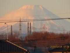 久しぶりに朝焼け富士を見ました