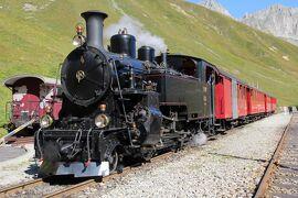 シニアー夫婦のスイスゆっくり旅行30日  (2)フルカ蒸気機関車牽引の保存鉄道 (9月21日)