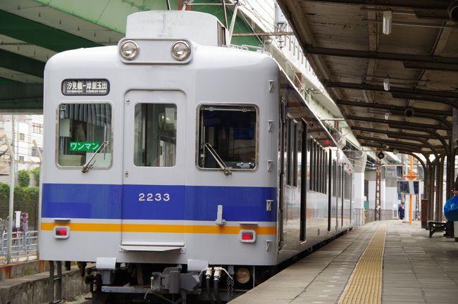 大阪に行ったら、汐見橋駅が近くにあった。<br />これは乗らなきゃ、汐見橋線
