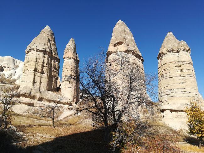 カッパドキア2日目☆ウチヒサール城砦・ギョレメパノラマ・野外博物館・パシャバー・アヴァノス・デヴレント