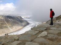 シニアー夫婦のスイスゆっくり旅行30日  (3)エッギスホルンから欧州最大、最長のアレッチュ氷河を展望する(9月22日)