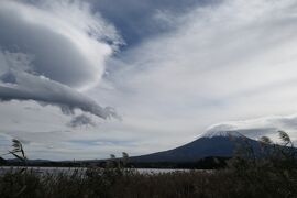 秋の山中湖/河口湖♪ Vol.5 ☆河口湖:富士大石ハナテラス 晩秋の庭園と吊し雲の富士山♪