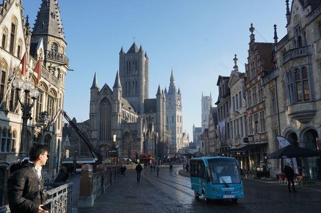 柔らかな冬の陽射しに包まれた中世の面影残るゲント街歩き♪ クリスマス市巡りの旅2-2