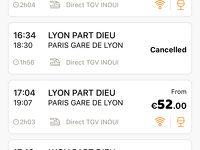 パリからリヨン往復