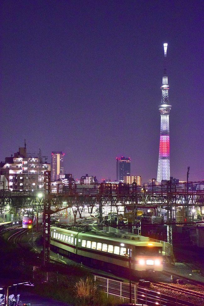いろんな角度から眺める、日本国旗をイメージした「新年特別ライティング」の東京スカイツリーを追いかけて、東京スカイツリー周辺をプチ散策してみました。