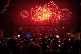 2019~2020.1 リスボンで年越し、スペインでお正月    3. 大晦日 コメルシオ広場のCDと花火、元旦のリスボン