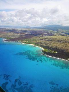 JAL770 成田~コナ ビジネスシート  ハワイ島到着