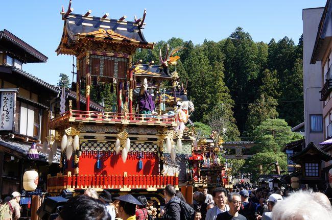 令和元年秋の高山祭り。何度見ても豪華絢爛な山車には感動を覚えます。