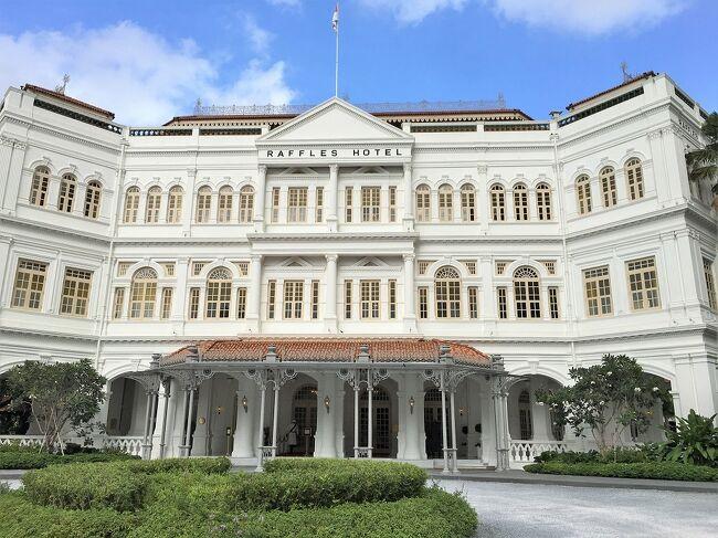 ティフィン・ルームでの朝食,ザ・グランド・ロビーでのアフタヌーン・ティー,ラッフルズ・スパなど,改装(restoration)後のラッフルズ・ホテルに泊まるシンガポール旅行記のうち,ホテル編です。<br /><br />航空旅行&観光編は,下記のURLからどうぞ。<br />https://4travel.jp/travelogue/11585508<br /><br />宿泊したのは,ラッフルズ・ホテル全115室のうちの35室を占める「パーム・コート・スイート」の110号室。広さは70㎡あるそうです。<br /><br />まずは,パームコートスイート(110号室)の室内の様子を動画でどうぞ。<br />https://youtu.be/muORIjVlDcA<br /><br />パームコートスイートの宿泊料金は,片道空港送迎の付いた Daily Rate (食事なし,7日前の14時までキャンセル料なし) で,1泊 S$1,129++(10%のサービス料と7%のGSTを含め総額 S$ 1,328.83, 約109,400円)でした。<br />追加の片道空港送迎は,nettで S$ 210 です。