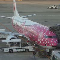 ボーイング737-800に乗りました。JTA43便。NGO-OKA 7:40発。快適な飛行でした。