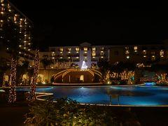沖縄(1.8) ホテル日航アリビラでは,まだクリスマスのライトアップがされていました。