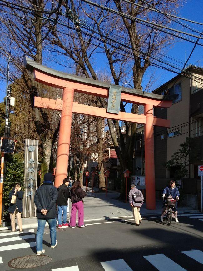 年明け新潟で初詣はしましたが、なんとなく厄除けなどはこっちで…という感じで毎年恒例行事のようになっている東京大神宮へのお参り。今年は誰も厄年(前・後も)なかったので、厄除けはしなかったのですが、お参りを口実に紀の善の抹茶ババロアも食べたいし?!今年も行ってまいりました!<br />何気に行ってなかったと思われる赤城神社へも行ってきましたよ~