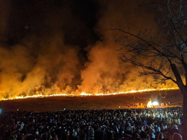 若草山焼きが観たくて、行って来ましたよ<br />大寒のこの時期、もっと冷え込むとのことですが、今年は暖かく観光客の私にはありがたい年でした。<br />【2020年1月25日(土)】(毎年1月第四土曜日開催とのこと)