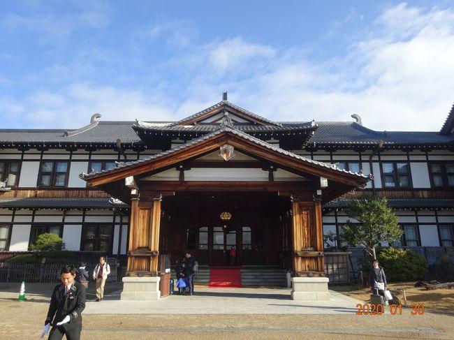 今年創業110周年になる奈良ホテルの記事を見つけ、早速予約をしました。しかも新館ではなくて、本館に宿泊したくて空いている1月29日を予約しました。折角奈良に来ましたので国立博物館を見学しようと思いましたが、次回の展示のために休館中でしたので、唐招提寺を見学し、京都に移動しました。<br /> 京都では定宿にしています日航プリンセスホテル・オークラホテルですが、今回はオークラホテルに予約をしました。どちらも立地場所が良いのでどこに行くのも好都合です。今回も錦市場辺りや四条河原町近辺を散策しながらゆっくりと楽しみました。翌日は冬の特別拝観をしています、東寺を観光し滋賀県の近江八幡にありますクラブハリエにて食事や買い物をして有意義な日にちを過ごせました。前編は奈良編の旅記となります。