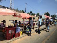 モザンビーク ローカルの街並みを車窓から