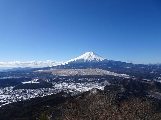 富士山・八ヶ岳・アルプス展望の山旅♪杓子山・石割山、飯盛山、霧訪山