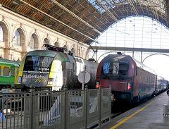 2019.10ハンガリー・ウイーン旅行19-Keleti駅のラウンジ,RJX64でウィーンに帰る