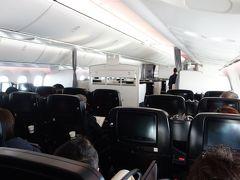 Boeing 787-8 に乗りました。NGO-NRT JL3082 8:20発。あっという間に成田に着きました。