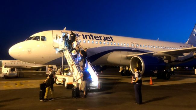 メキシコ旅行・・ANAでメキシコシティへ、さらにインテルジェットでオアハカへ