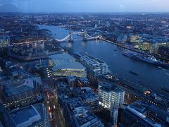 London(1.9) Sky Garden で夕日を見る。そして,ライトアップのはじまるロンドンを見下す。