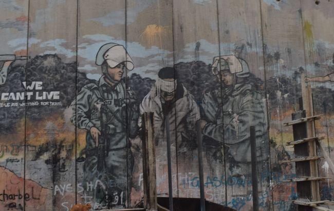バンクシーのストリートアートよりも難民キャンプの壁画の方がインパクトあった。