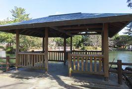2020新春、平手政秀所縁の地(1/2):2月6日(1):志賀公園、再建された庭園跡、浮見亭、カルガモ、サザンカ