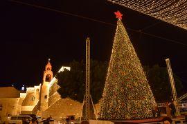 クリスマスのベツレヘム。巨大ツリーがお出迎え。