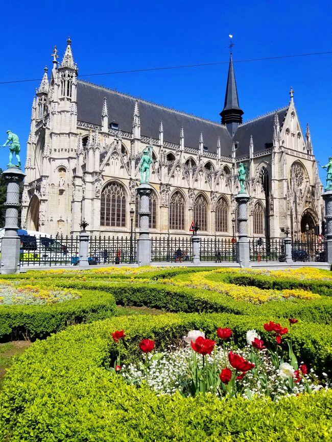 2018年のGWはオランダ、ベルギーのベネルクス2か国を周遊しました。8日目はケルンまでの移動日ですが午後の出発まで、まだ訪れていなかった教会や王宮、カフェといった観光スポットを歩いて散策しました。<br />~旅程~ <br />4月27日(金) 成田→デュッセルドルフ→アムステルダム(アムステルダム泊)<br />4月28日(土) アムステルダム(アムステルダム泊)<br />4月29日(日) クレラーミュラー→ユトレヒト→アムステルダム(アムステルダム泊)<br />4月30日(月) アムステルダム→デルフト→ハーグ(ロッテルダム泊)<br />5月 1日(火) キューケンホフ→ロッテルダム→キンデルダイク(ロッテルダム泊)<br />5月 2日(水) ロッテルダム→アントワープ→ブリュッセル(ブリュッセル泊)<br />5月 3日(木) ゲント→ブルージュ→ブリュッセル(ブリュッセル泊)<br />5月 4日(金) ブリュッセル→ケルン(ケルン泊)<br />5月 5日(土) ケルン→デュッセルドルフ→成田<br />5月 6日(日) 日本帰国