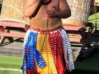 Oahu-21 PCC トンガ村 パフォーマンスショー ☆ナファ/太鼓の勇壮な演奏・鼻笛も