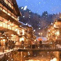雪の銀山温泉と山形