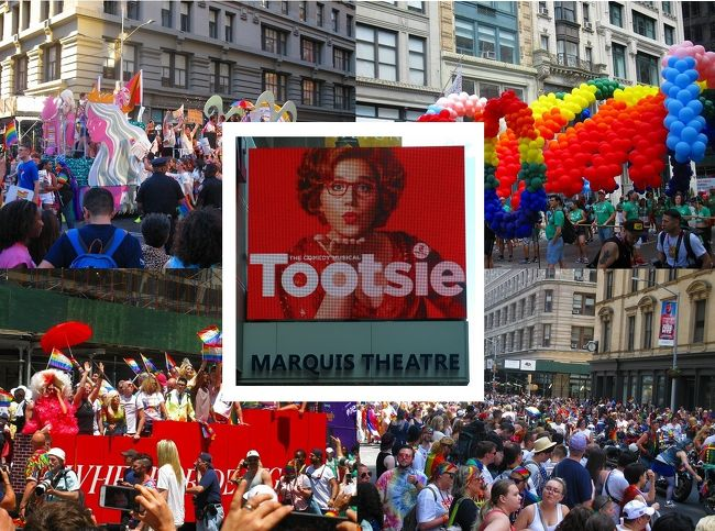 """ついにニューヨーク・ブロードウェイまで、米倉涼子主演:ミュージカルCHICAGOを見に行く決心をしました。<br /><br /> この旅行記では、プライドパレード(事前知識まったくなし)とミュージカル""""トッツイー""""を見に行った様子をご紹介しています。"""
