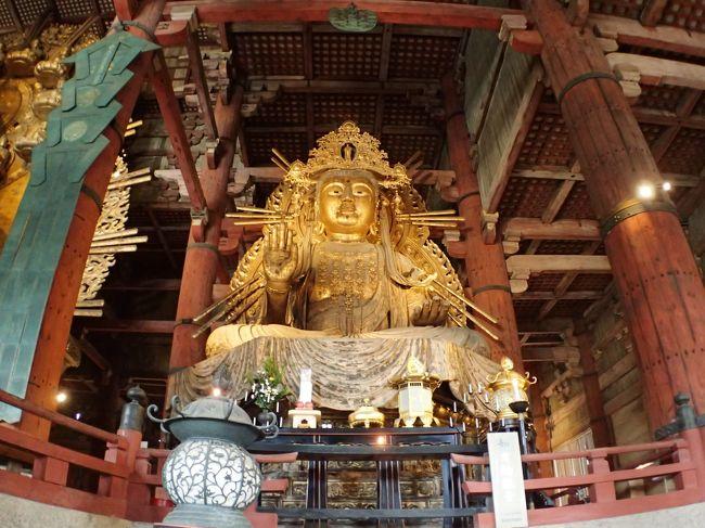 2/6(金)と2/10(月)名古屋で仕事が入りました。一旦東京に戻るのもと思い、週末は戻らず遊びに行く事にしました。<br />以前お世話になった方が奈良に住んでいるので、奈良まで遊びに行く事にしました。2日目は奈良市内を観光しました。私が中学校の修学旅行依頼の奈良の大仏見学となりました。当時奈良の大仏を見学しそのまま奈良市内のホテルに宿泊しましたが、宿泊した翌朝チェルノブイリ原子力発電所事故の速報が流れた事を今でも思い出します。1986年4月26日だったみたいので、かれこれ約34年振りに訪れる事になりました。