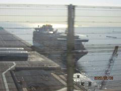 板東観音霊場巡り(2)大黒埠頭のクルーズ船。