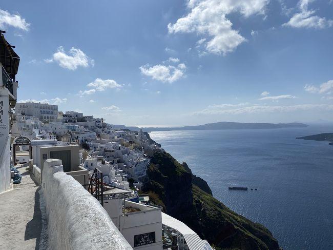 冬のサントリーニ島①【青と白の世界】