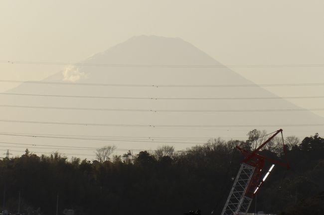 今年の国内のカレンダーでは2月23日は「天皇誕生日」の祝日だ。昨年(平成31年/令和元年)には代替わりのために国民の祝日「天皇誕生日」はなかった。令和2年になって2年振り(14ヶ月振り)で「天皇誕生日」の祝日を迎えた。<br /> 2月23日は富士山の日だという。富士山好きの私でも知らなかったのだが、今週になって知った。<br /> お昼過ぎに大船駅から戸塚駅に向かう途中で2箇所、富士山が見えた。山並の上に頭を出した白い雪化粧姿の富士山である。まるで都内から見る富士山のようだ。<br /> 4時頃になって、せっかくなのだからと思い、富士山を写真に撮ることにした。朝方見るような富士山ではなく、ボーとシルエットが見えるだけだ。4箇所富士山のビュースポットを巡ったがどれもこれもボーとした富士山だ。<br />(表紙写真は富士山)