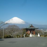 早春の富士山をみる