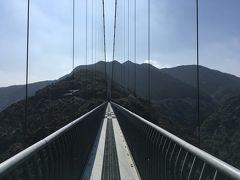 宮崎出張で1日現地休み、世界一?の歩道吊橋を歩いてみた=2020年2月