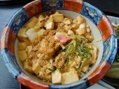 出町柳でお大福(豆餅)買って,北野天満宮前でとようけ丼を食べて。あまりに定番で。。。
