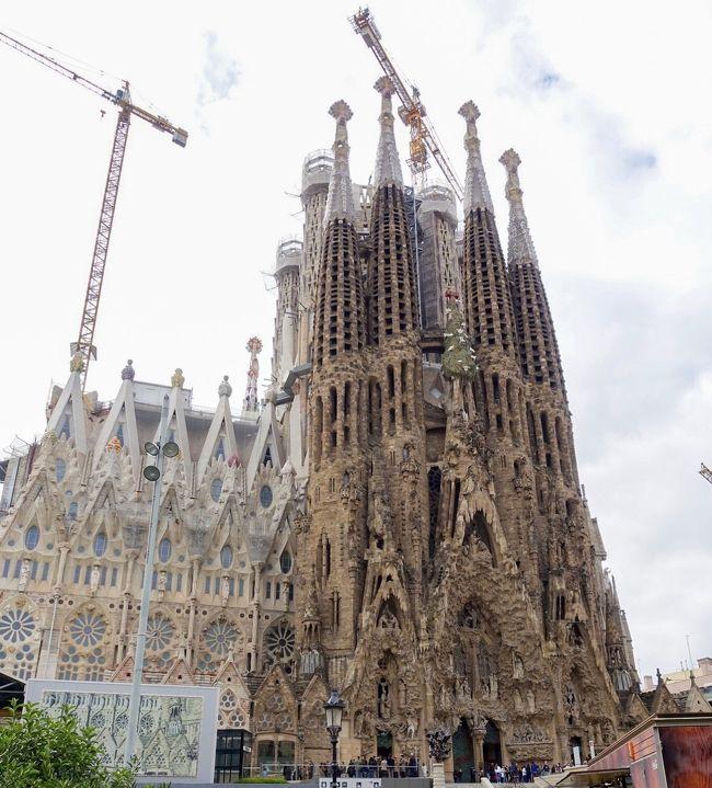 大学時代の友人4人でスペイン周遊旅行。<br />航空券・ホテル・現地ツアーなど全て個人で手配した節約旅。<br />フォートラベルでスペインに造詣が深いchurrosさんに色々とご教示頂き、まずはバルセロナを堪能中。<br />本日遂にサグラダファミリアへ!<br /><br />【全旅程】<br />12/28 関空→広州→アムステルダムへ発<br />12/29 アムステルダム→バルセロナ(街歩き)<br />12/30 バルセロナ2日目(サグラダ・ファミリア)<br />12/31 バルセロナ3日目(年越し)<br />1/1  バルセロナ→マガラ→(アンダルシアツアー)→グラナダ<br />1/2  グラナダ(アルハンブラ宮殿)→マドリード<br />1/3  マドリード2日目(トレド・セゴビアツアー)<br />1/4  マドリード3日目(王宮)<br />1/5  マドリード→パリ→広州へ発<br />1/6  広州→関空<br /><br />個人の備忘録的な旅行記なので読みにくくてすみません…。<br />なぜか1日目の旅行記がフォートラベルトップページのおすすめに上がってしまったので緊張しながら執筆中。