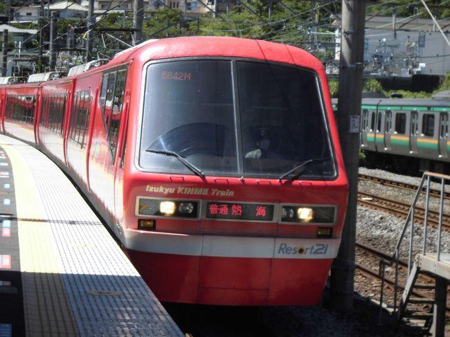伊東線のキンメ電車に来宮‐熱海1区間に乗ってきました。