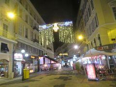 フランス 「行った所・見た所」 ニース(夜の市街地散策とホテルエリントン宿泊)