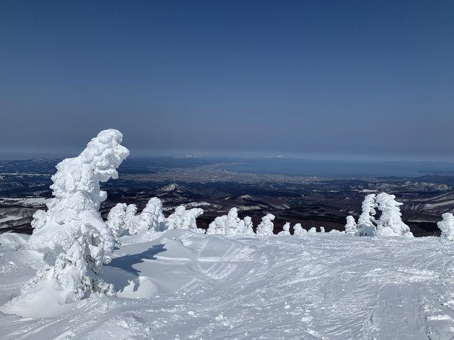 コロナウィルスですが、週末青森にスキーに行ってきました。<br /><br />3/6 はやぶさ33号で青森へ<br />3/7 青森スプリングリゾートスキー場<br />3/8 八甲田山ロープウェイで頂上へ。午後は奥入瀬へドライブ